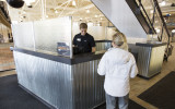 facilities, West entrance, February, glass, renovation